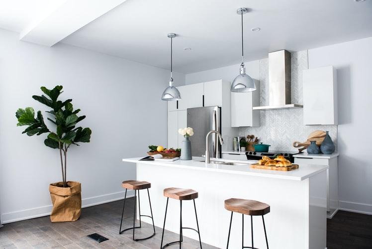 sử dụng tông màu dịu êm cho gian bếp
